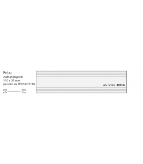 Feba Haltefeder zu Aufnahmeprofil Alu 110 x 31 mm