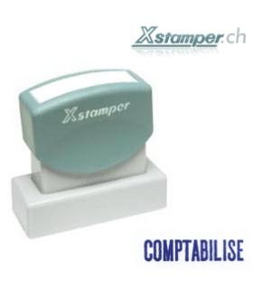 Xstamper Comptabilisé , bleu