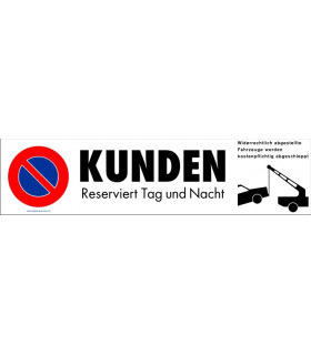 Parkplatzbeschriftungen, KUNDEN, Grösse 410 x 100 mm