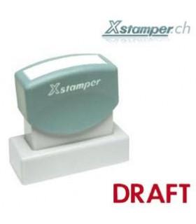 Xstamper DRAFT, rot