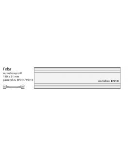 Feba Aufnahmeprofil mit Haltefeder, Alu 110 x 31 mm