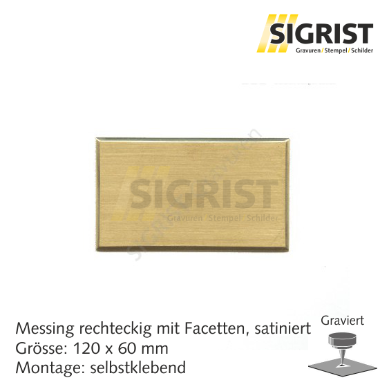 Zierschild 60222, Messing