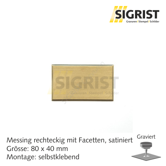 Zierschild 60223, Messing