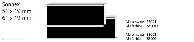SS002 Sonnex 61, Alu schwarz
