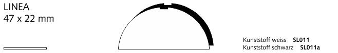 SL011a LINEA, Kunststoff schwarz