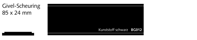 BG012 Givel-Scheuring, Kunststoff schwarz