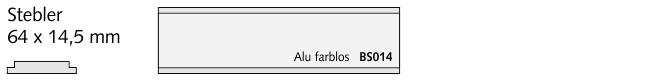 BS014 Stebler, Alu farblos