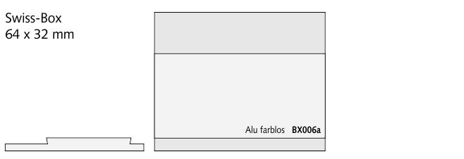 BX006a Swiss-Box, Alu farblos