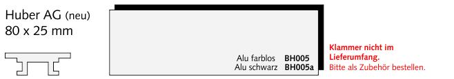 BH005a Huber AG (neu), Alu schwarz