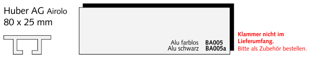 BA005 Huber AG Airolo, Alu farblos