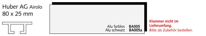 BA005a Huber AG Airolo, Alu schwarz