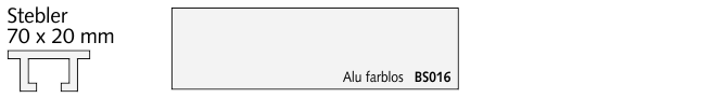 BS016 Stebler, Alu farblos