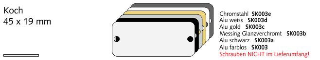 SK003b Koch, Messing Glanzverchromt