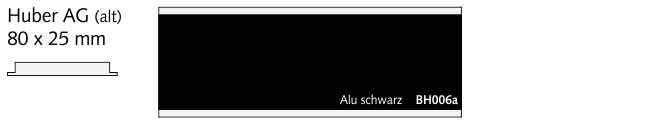 BH006a Huber AG (alt), Alu schwarz