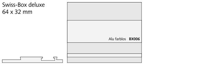 BX006 Swiss-Box deluxe, Alu farblos