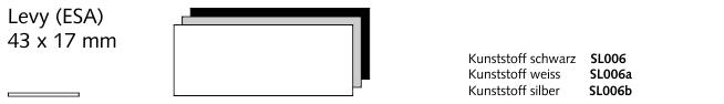 SL006 Levy (ESA), Kunststoff schwarz